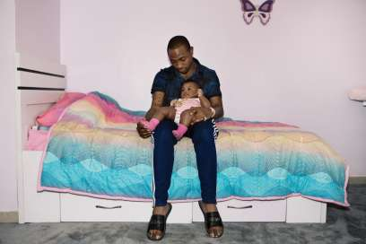 Davido and daughter for The Fader magazine (Travys Owen)
