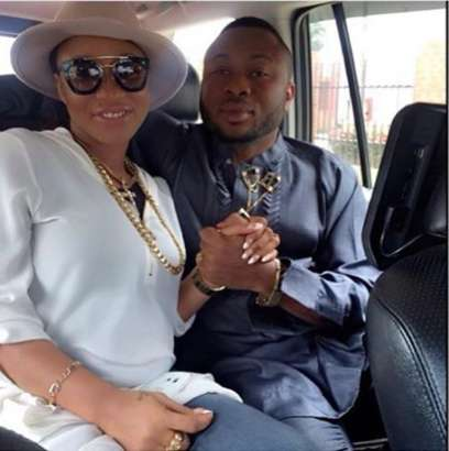 Tonto Dikeh and her husband, Churchill Oladunni Olakunle (Instagram )