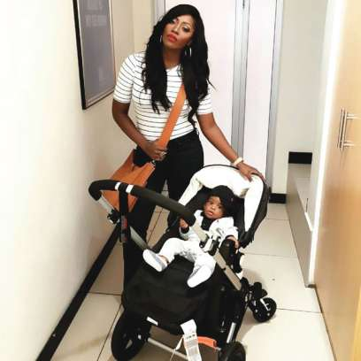 Tiwa-Savage and baby Jamal (Punch online)