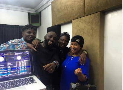 Jaywon, Tonto Dikeh-Churchill, and others in the studio (instagram)