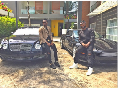 Iyanya and Diamnond Platnumz on set of Nakupenda (The Net )