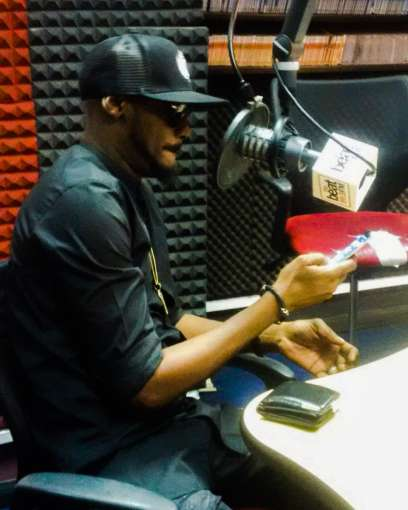 2Face Idibia at the Beat FM studio